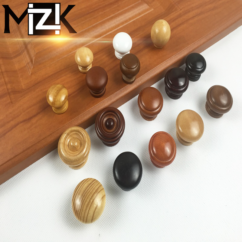 Wood Kitchen Handles: 5PCS Wooden Kitchen Cabinet Drawer Knobs Mushroom Cupboard
