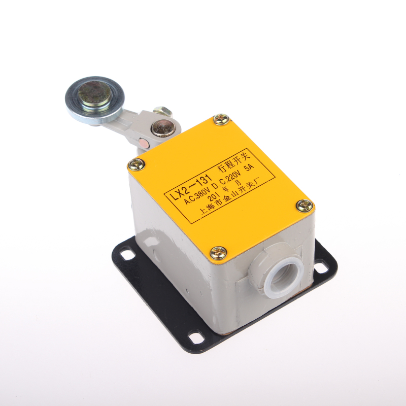 цена на 20A 220VDC 380VAC 60Hz 1NO 1NC DPST Momentary Rotary Roller Lever Limit Switch LX2-131