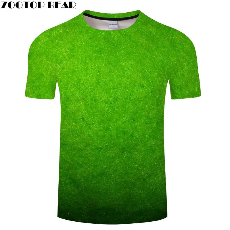 Green tshirt Fuzzy 3D t shirt Men Women t-shirt Harajuku Tee Outwear Top  Streatwear 6XL Autumn Short