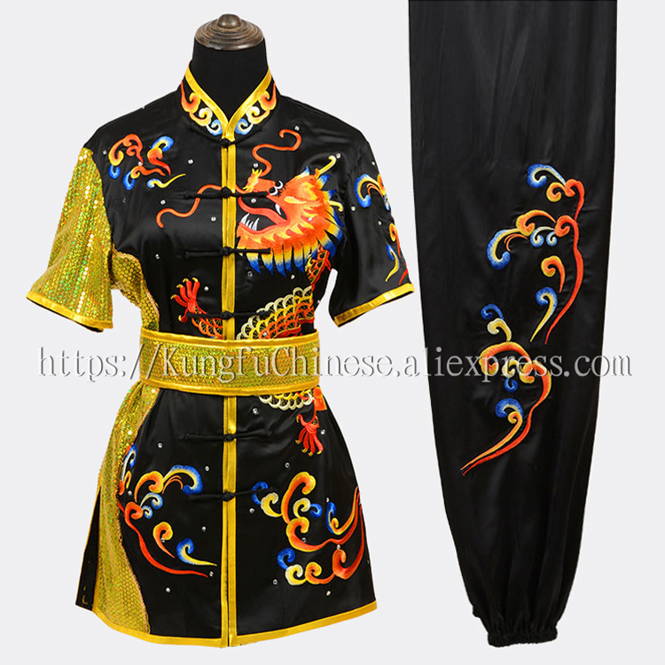 Chinese Wushu routine uniform Kungfu clothes Martial arts suit changquan clothes outfit for men women children