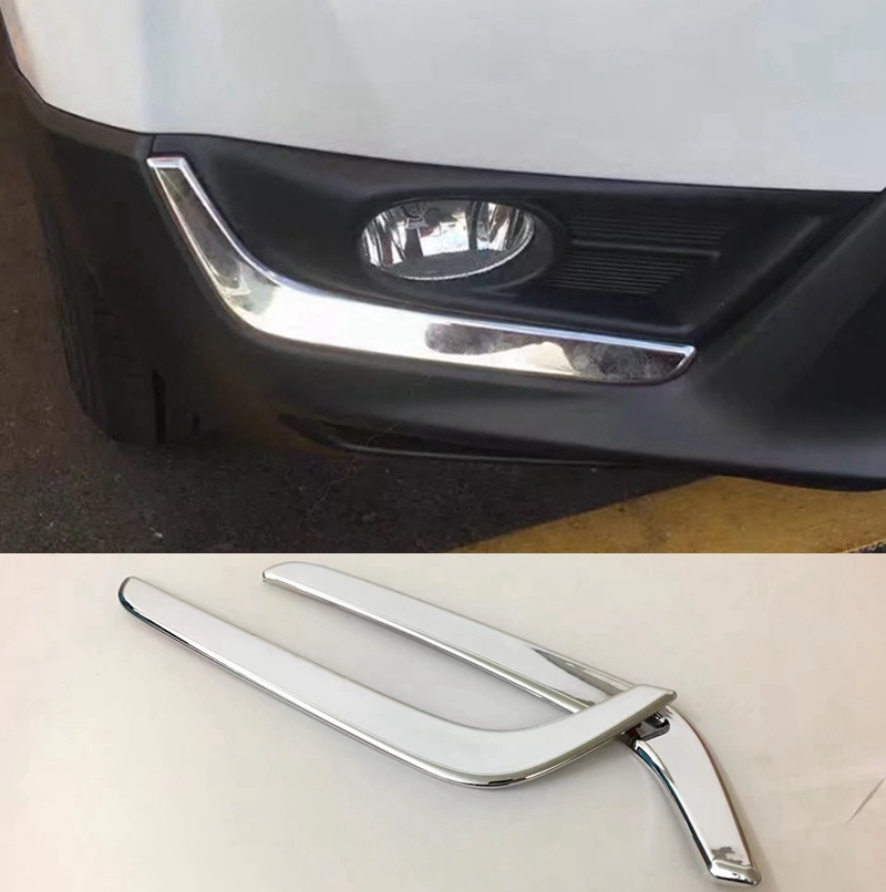 ABS Chrome Front Fog Lamp Eyelid Trim Cover 2pcs For Honda CR-V CRV 2017 2018