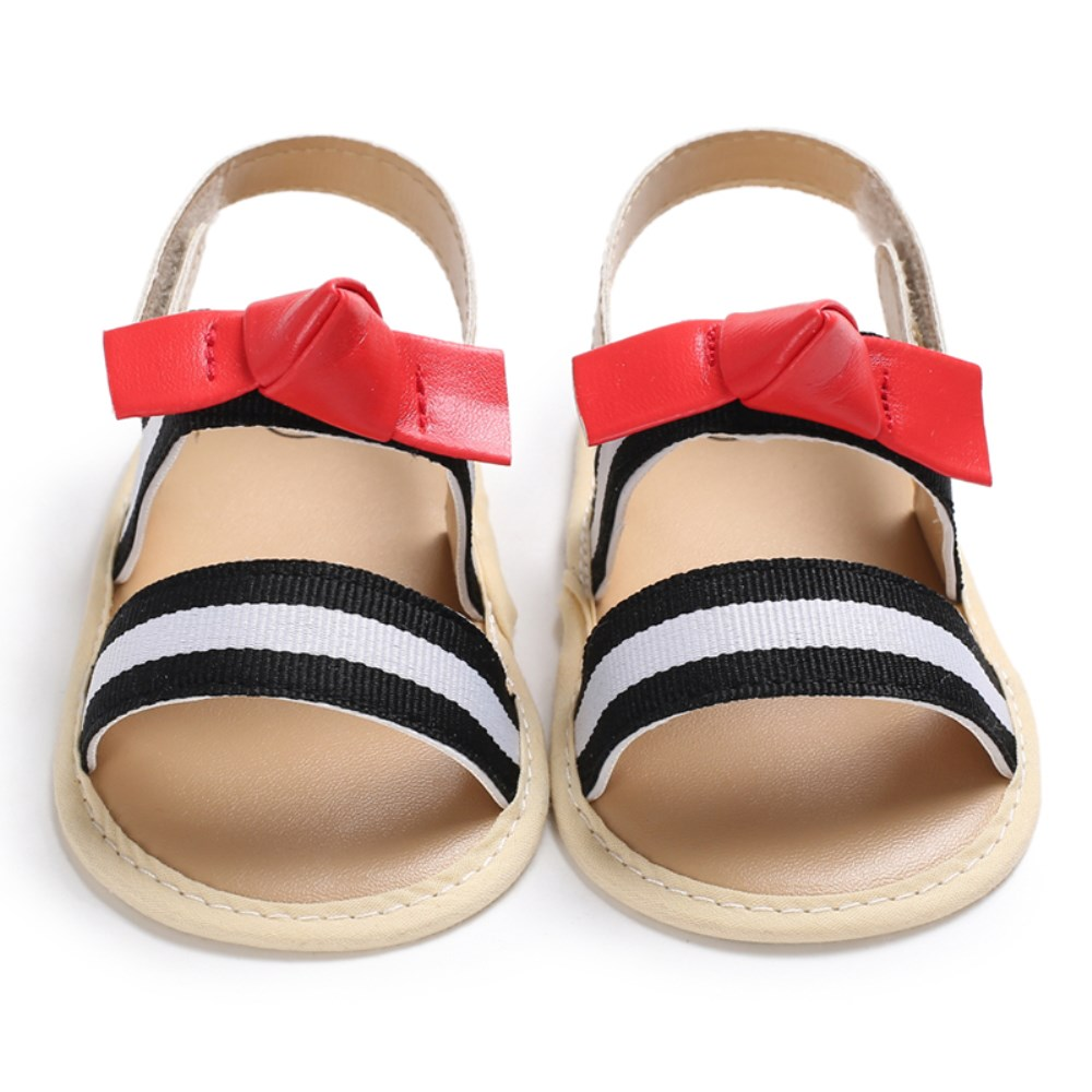 Summer Infant Toddler Newborn Baby Girls Leather Sandals Prewalker Kids Soft Crib Sole Shoes