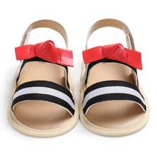 Summer Infant Toddler Newborn Baby Girls Leather Sandals Prewalker Kids Soft Crib Sole Shoes