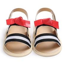 Summer Infant Toddler Newborn Baby Girls Leather Sandals Toddler Prewalker Kids Soft Crib Sole Shoes цены