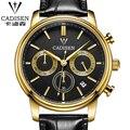 2016 Luxury Men's Watch Fashion Quartz Waterproof Watches New Design Genuine Leather watches Hot Swiss brand watch