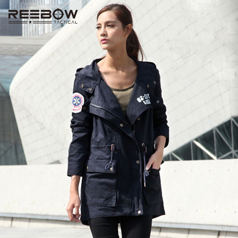 REEBOW TACTICAL Women Autumn Winter Jacket Outdoor Sports Female Cotton Hooded Coats Military Hunting Urban Airsoft
