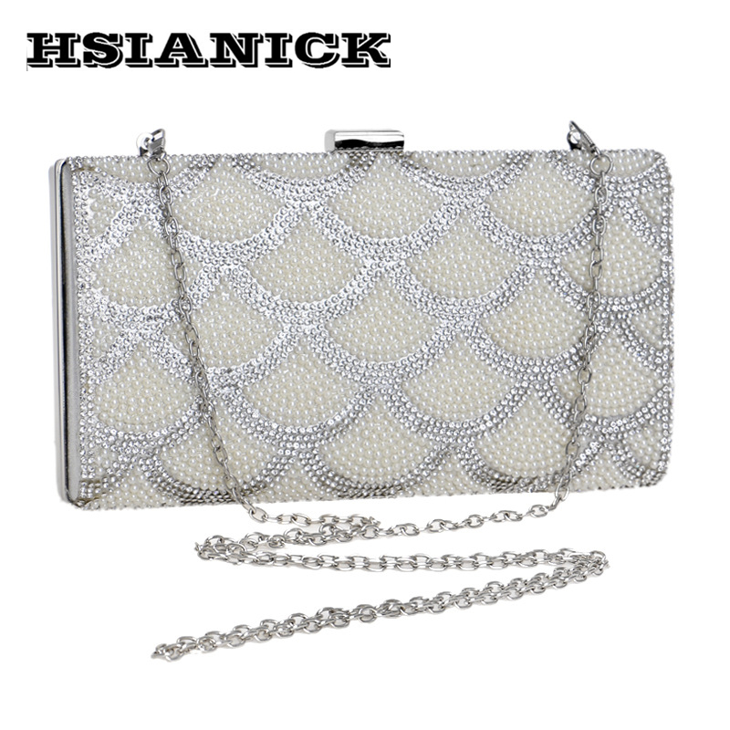 2017 Limited Diamonds Woman New Celebrity Dinner Bag With Pearl Elegant Handbag Party Prom Clutch Evening For Wedding Bride 2017 new mini shoulder messenger bag famous brand luxury elegant bead evening bag clutch pearl handbag bride bags for wedding