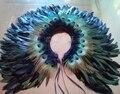 De las mujeres de Piel de Plumas de Pavo Real Real dama de Honor Nupcial de La Boda Del Cabo Del Abrigo de Pashmina Mantón de La Bufanda para la Noche Fiesta de Disfraces