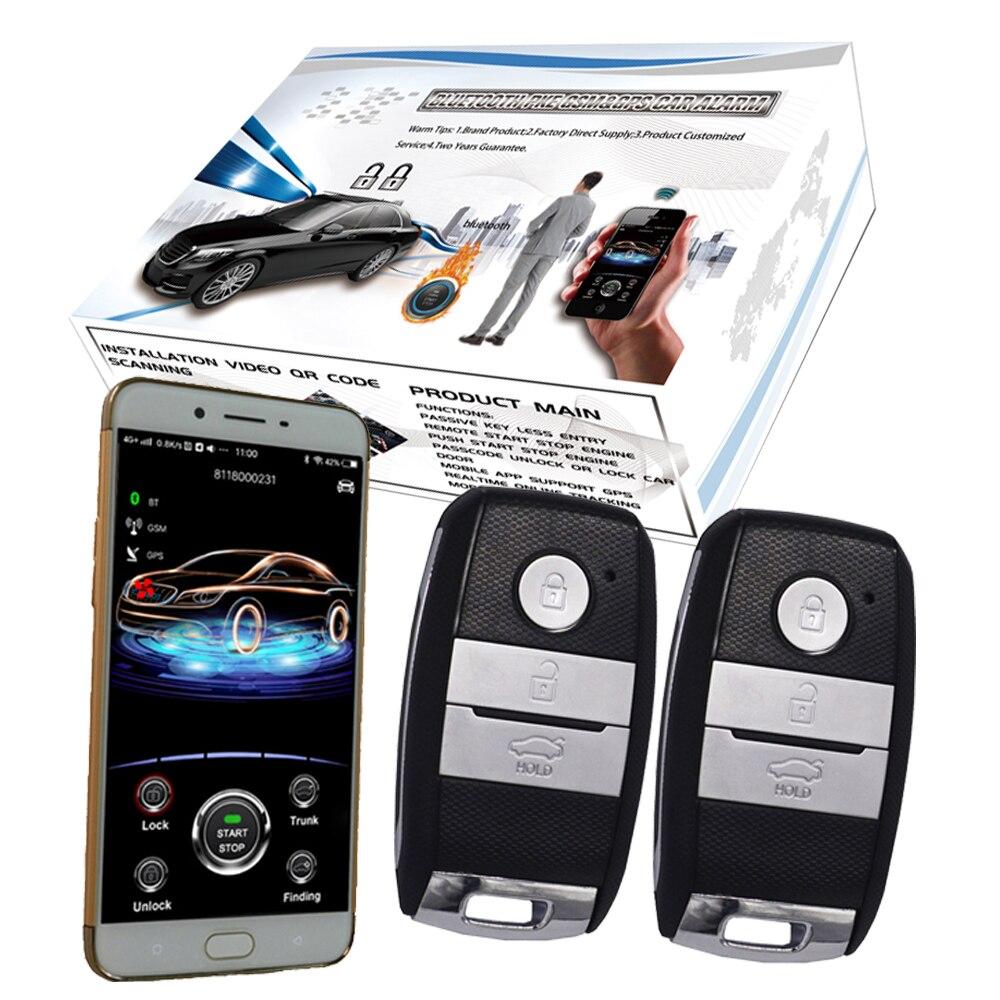 Système de sécurité d'alarme antivol de voiture téléphone intelligent entrée sans clé serrure de porte de voiture démarrage à distance arrêt moteur sms ou alarme d'appel téléphonique