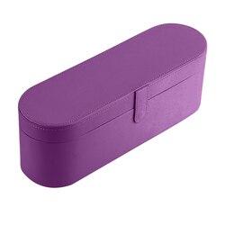Boîte de rangement pour sèche-cheveux étanche Anti-chute housse en cuir boîte organisateur pour Dyson Supersonic nouvelle boîte de ventilateur (violet)