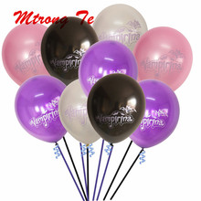 50 100pcs 10inch Vampirina Latex Inflatable Balloon Birthday Party Halloween Supplies Marriage Decorations Vampire Air Globos
