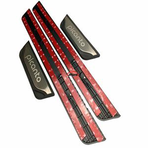 Image 2 - Car Styling For Kia Picanto Accessories Stainless Steel Door sill Trim Scuff Plates Protector Guards 2012 2013 2015 2016 2018