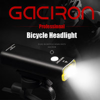 GACIRON Rechargeable Bike Headlight MTB Bicycle Handlebar LED Flashlight Outdoor Cycling Lamp Torch Light Bicycle Accessories