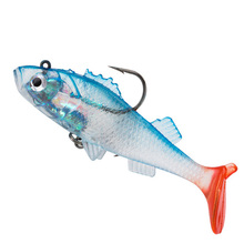 Купить с кэшбэком Fishing Lure 8.5cm 14g 1pcs Jig Lead soft bait Artificial wobblers silicone lures T Tail With Hook Carp Fishing Tackle pesca