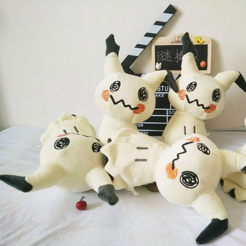 Image 5 - 30cm Mimikyu Plush Toys Cartoon Anime Sun Moon Mimikyu Pikachu Stuffed Soft Doll Kids Toy Birthday Gift For ChildrenMovies & TV   -