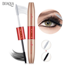 BIOAQUA Brand Mascara Double Ended White Black 3D Fiber Waterproof Thick Lash Lengthning Curling Nutural Eyelash Enhancer MakeUp