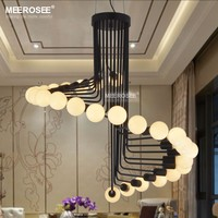 Modern Loft Industrial Chandelier Lighting Bar Stair Dining Room Lighting Retro Meerosee Chandeliers Lamps Fixtures Lustres