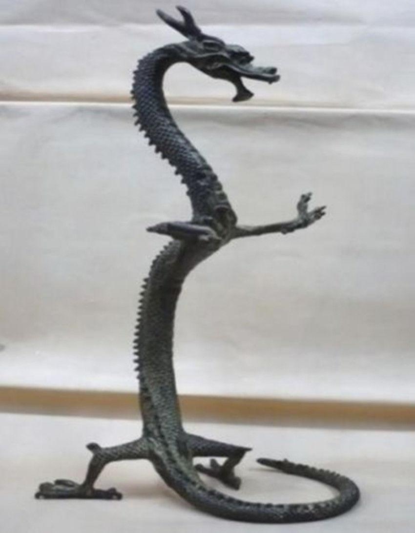 Figurines de statue de dragon chinois en bronze exquis 17