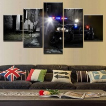 The Police Car Modern Decorative Home Canvas Wall Art Picture 5 Pieces Paintings Decor Living Room