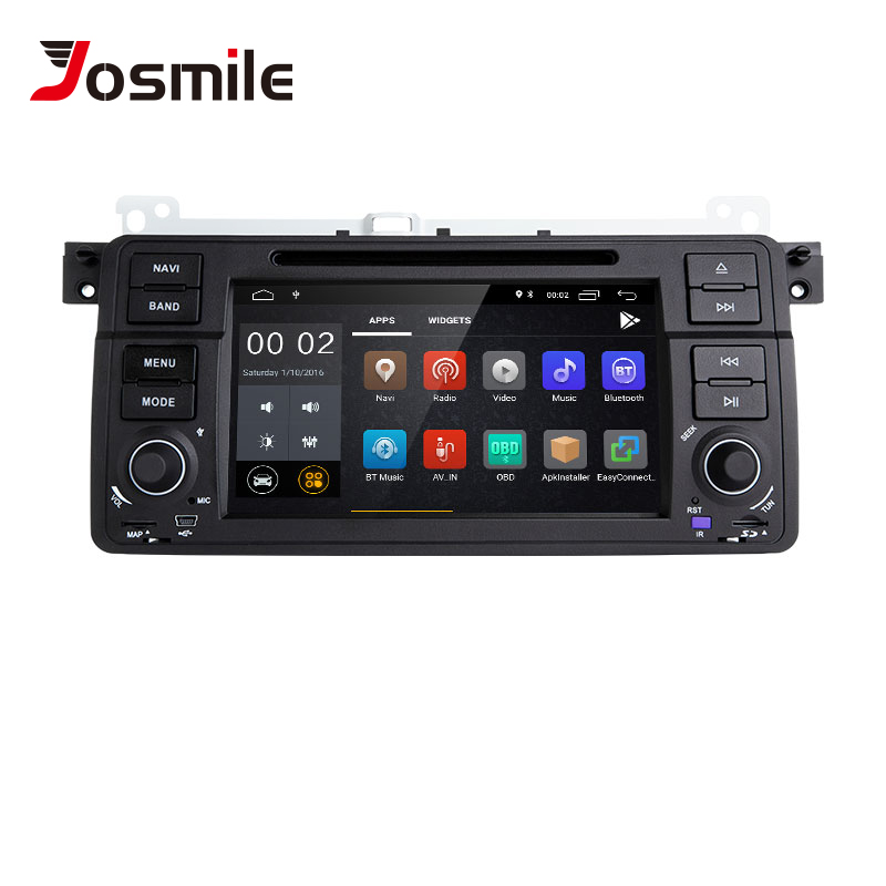 Josmile Car Multimedia font b Player b font 1 Din Android 8 1 For BMW E46