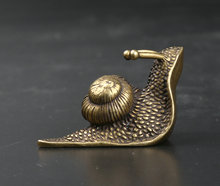 40MM/1.6 Collection Curio Rare Chinese Fengshui Small Bronze Exquisite Lovely Animal Snail Statue Statuary 38g