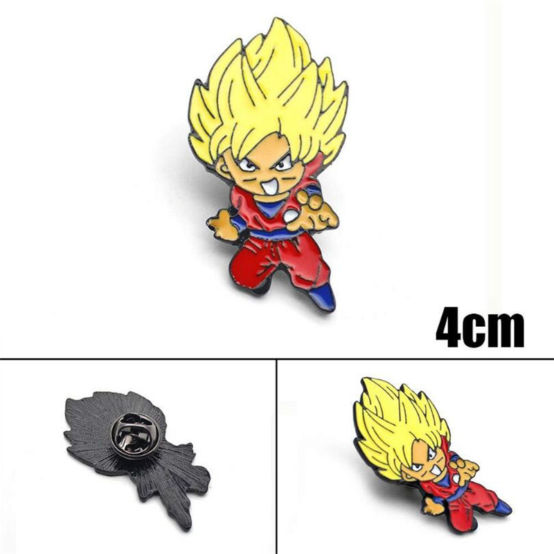 Hot New Anime Dragon Ball Brooch Cosplay Accessories Badge Son Goku Fibula Brooch Fancy Cartoon Gift
