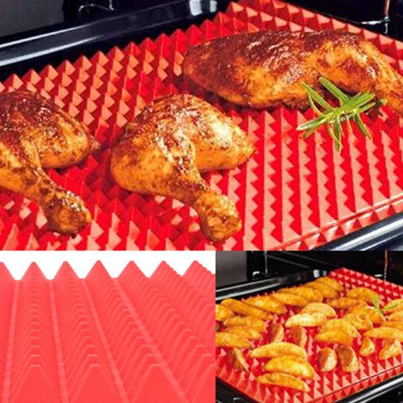 Da Cucina in silicone di Zerbino Copriletto Cucina Forno A Microonde Forni di Cottura Utensili Strumenti non-stick Riutilizzabile Coperta Piramide di Disegno Ridurre grassa