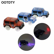 OOTDTY Electronics Special Car for Magic Track With 3 LED