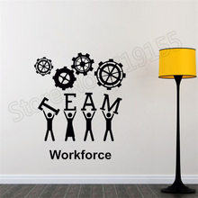 YOYOYU Wall Decal Sign Quote Workforce Stickers Vinyl Sticker Office Team Art Decor Home Decoration DIYZW302