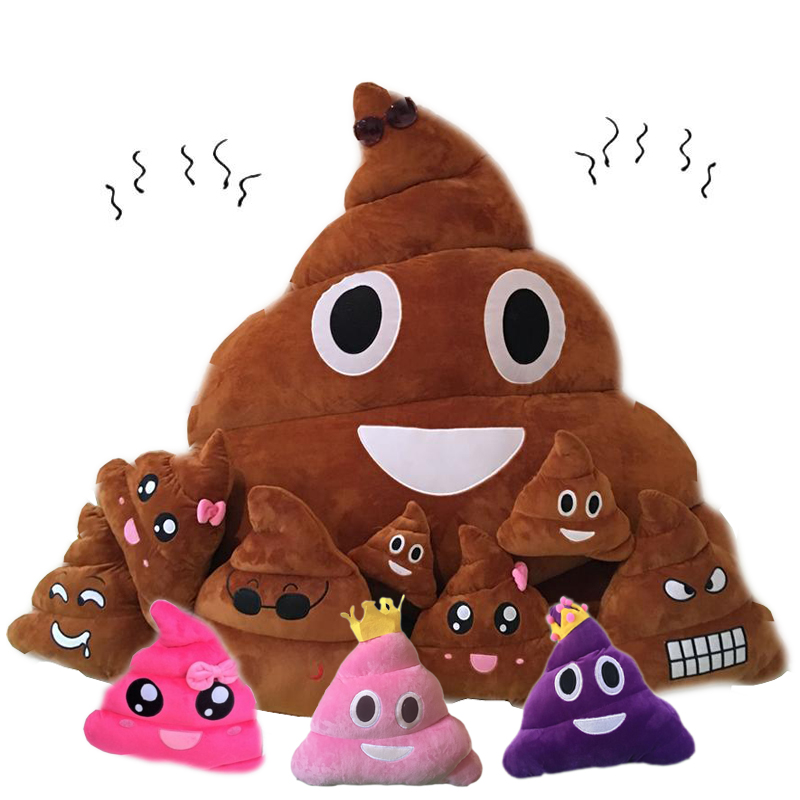 1pc Stool Emoji Smiley Emoticon Cushion Pillow Stuffed Plush Toy Doll Poop Face Smiley Poop Pillow Home Sofa Office Decorative