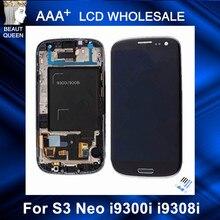 Para Samsung Galaxy S3 Neo i9300i i9301 i9301i i9308i LCD del teléfono Replcement pantalla táctil digitalizador con marco de montaje