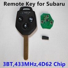 Автомобиль Дистанционного Ключа 433 МГц 4D62 Чип для Subaru Forester 2008-2013 Legacy Outback 2009-2014