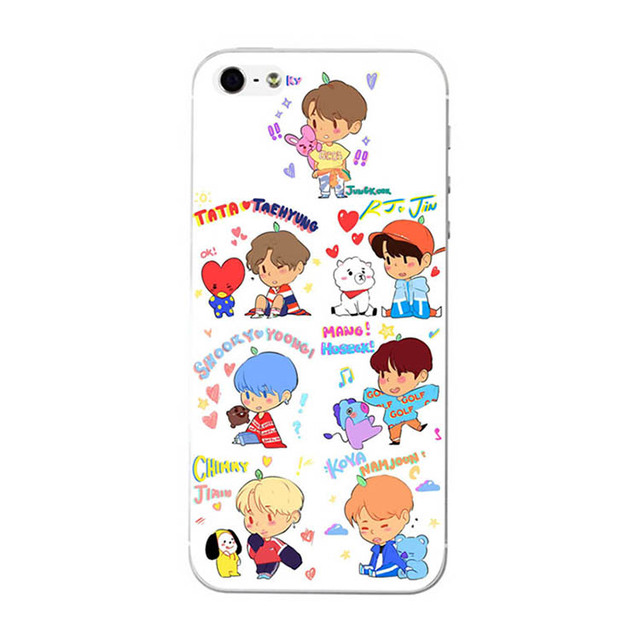 wholesale dealer 54471 c5355 US $2.28 |BZWGL KPOP BTS BT21 Phone Case Bangtan Boys Phone Cover Cellphone  Case COOKY For Iphone 6 6s 6plus 7 7plus 8 X 5 soft TPU cover-in Fitted ...
