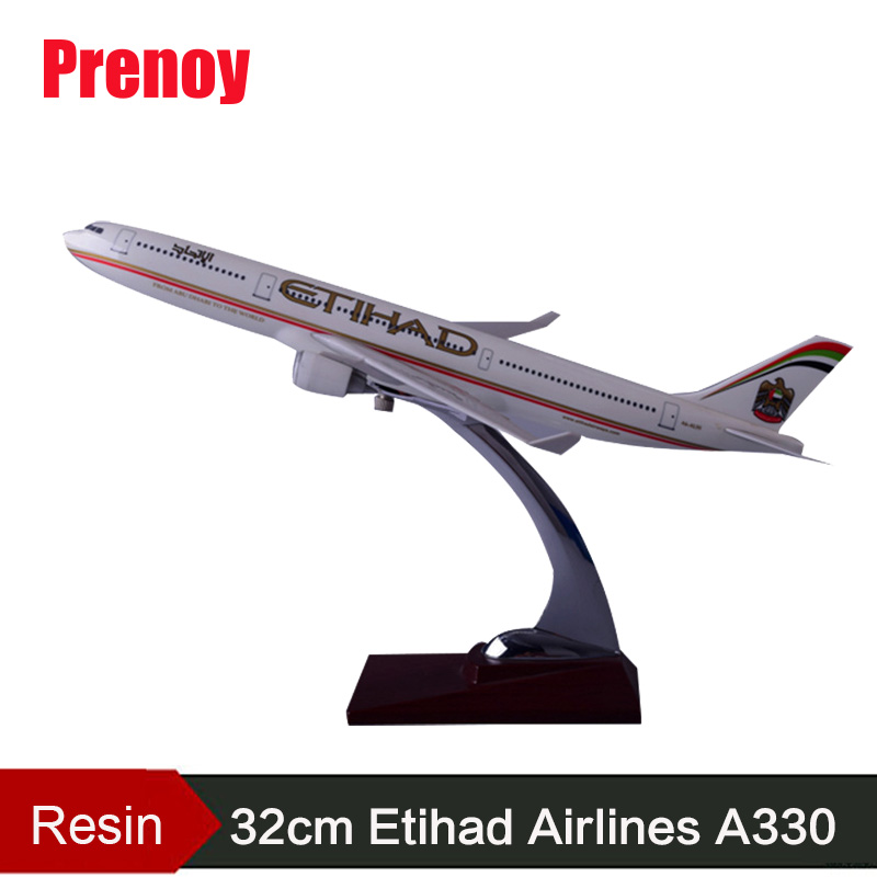32cm A330 Resin Aircraft Plane Model Etihad Airlines Airplane Model ETIHAD Airways Airbus International Aviation Static Model aeroclassics china eastern airlines b 6083 1 400 a330 300 commercial jetliners plane model hobby