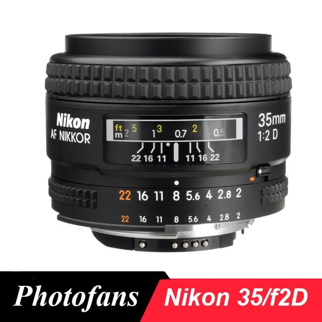 Nikon 35 / 2 D Lens AF Nikkor 35mm f/2D Lens for D80 D90 D7200 D7100 D300 D500 Df D610 D750 D700 D800 D810 D3 D4 D5 godox mini speedlite tt350n camera flash ttl hss 2x 2500mah battery for nikon d810a d810 d800 d750 d700 d610 d300 d5 d4 d3 d2