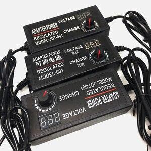 Image 2 - Có thể điều chỉnh AC để DC 3 V 12 V 3 V 24 V 9 V 24 V Phổ adapter với màn hình hiển thị điện áp Quy Định cung cấp điện adatpor 3 12 24 v