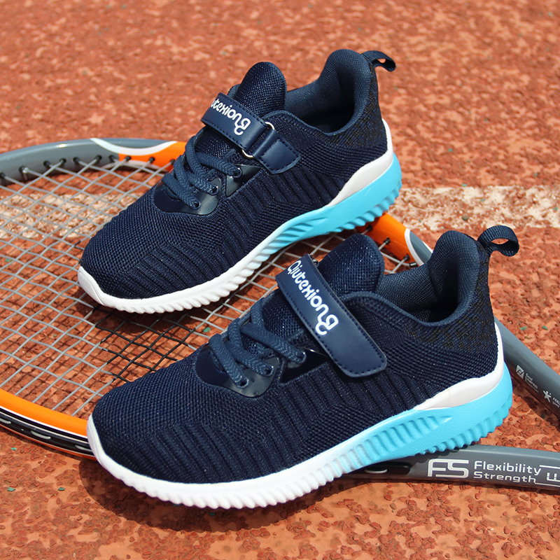 e007cd1332df0 2018 Spring   Autumn New Style Flyknit Children Sport Running Shoe Boys  Girls Big Kids Sneakers Teenagers Students Outdoor Shoe-in Athletic Shoes  from ...