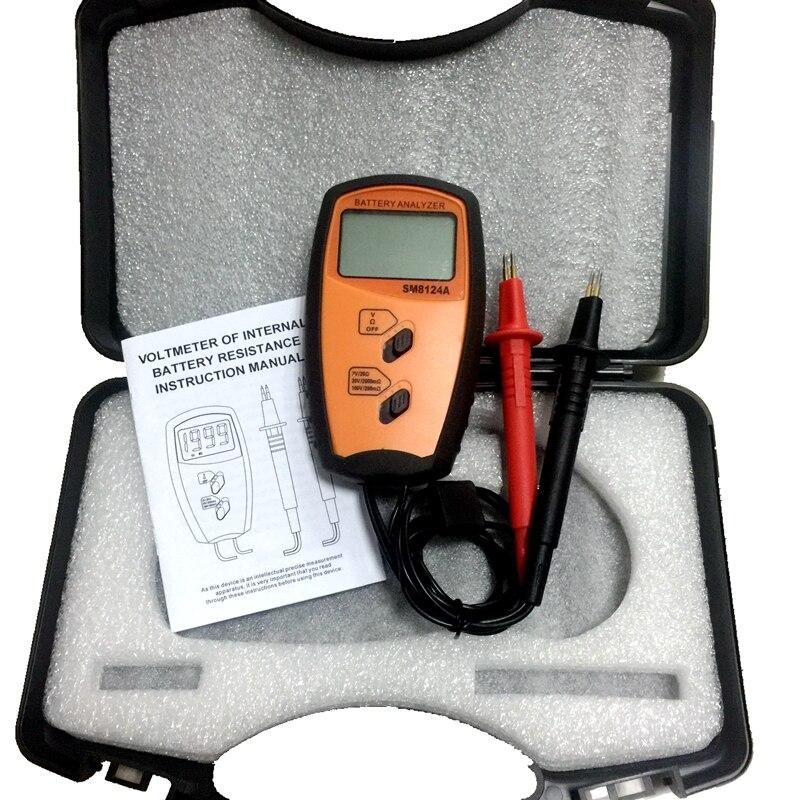 Professionnel Batterie Interne Résistance Impédance Mètre Portable de Voiture Au Lithium-ion Voltmètre de résistance interne de la batterie analyseur
