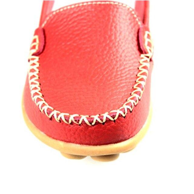 YOUKENITI Genuine Leather Shoe Brand Ballet Women Flat Shoes Flexible Nurse Peas Loafer Shoes Woman Appliques Driver Shoes JJ801
