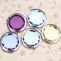 Металл зеркало для макияжа раза кристалл компактное зеркало портативный симпатичные металл Espelho де Bolso для персонализированные свадебные подарки