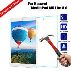 Premium szkło hartowane ochrona ekranu tabletu tarcza folia do Huawei MediaPad M5 Lite 8.0 o twardości 9 H Film przeciwwybuchowy