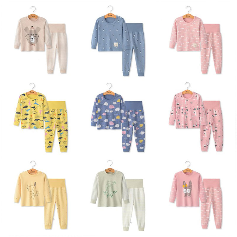 Susi & Rita/пижамы для маленьких девочек; зимние хлопковые пижамы с длинными рукавами для мальчиков; коллекция 2019 года; Осенняя детская одежда для сна; зимние рождественские пижамы
