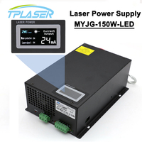 150W 120W 130W Laser Power Supply MYJG 150W Display LED Screen For Co2 Engraving Cutting Machine Laser Tube