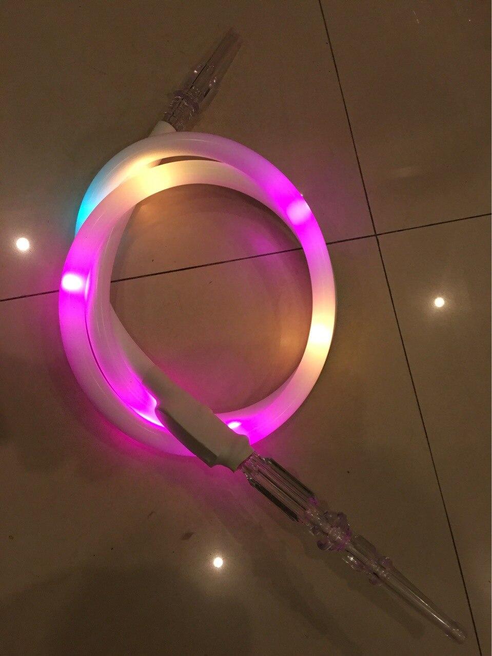 צינור נרגילות נרגילה צבעוני אופנה LED זוהרת Narguile מסנוור אביזרי צינור עישון הטבק ויד הרב