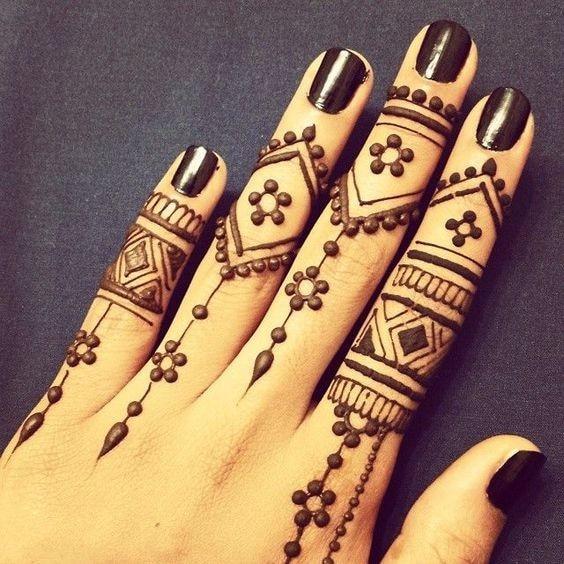 Alami Indian Mehndi Warna Coklat Pasta Henna Cone Wanita Riasan Jari