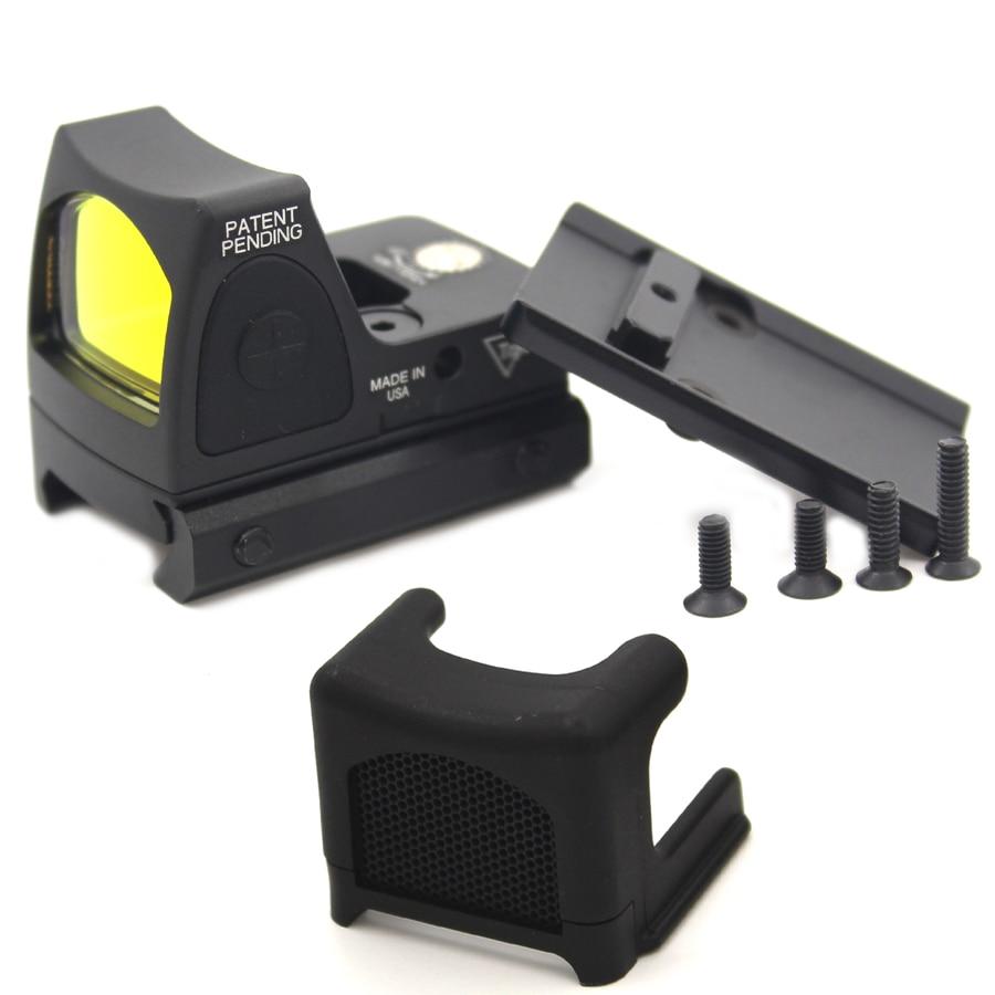 Mini RMR Red Dot Sight&Anti-Reflection Device Glock/Reflex Sight Scope fit 20mm Weaver Rail For  Hunting hunting holographic ultra mini small rmr red dot sight 20mm weaver rail and mount base for tactical scope