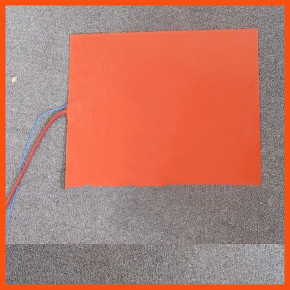 150 x 150mm 110W 220V K type thermistor Silicone Rubber Heater with Heating Element 3D printer heating bed flexible heated