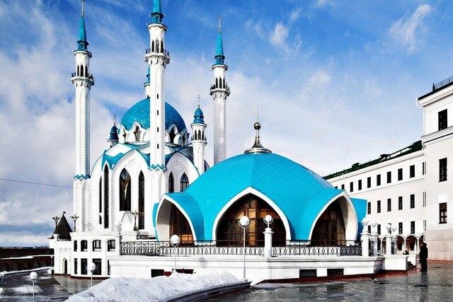 Berühmte Architektur moschee russland berühmte architektur 014pfj stoff poster