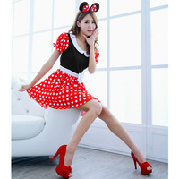 2017 New Fashion Sexy Christmas Minnie Mouse Women Xmas Costume Cosplay Dress Up Outfit Ear Gift