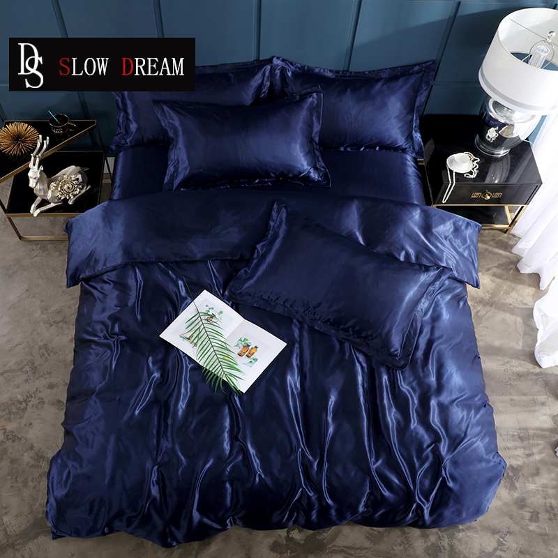 SLOWDREAM Fitted Sheet Solid Color Bedding Set Rubber With Elastic Band Sheet Pillowcase Bedclothes Euro Duvet Cover BedspreadSLOWDREAM Fitted Sheet Solid Color Bedding Set Rubber With Elastic Band Sheet Pillowcase Bedclothes Euro Duvet Cover Bedspread